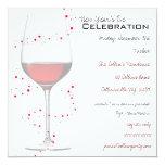 Invitaciones del vino rojo y del Año Nuevo de las Invitaciones Personales