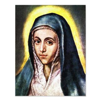 Invitaciones del Virgen María de El Greco Anuncio Personalizado