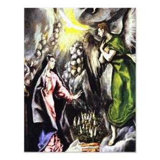 Invitaciones del Virgen María del anuncio de El