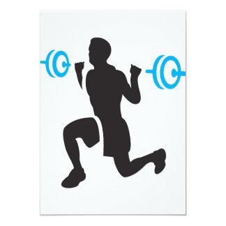 """Invitaciones del Weightlifter Invitación 5"""" X 7"""""""