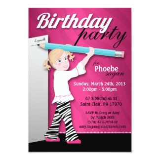 """Invitaciones descaradas de la fiesta de cumpleaños invitación 5"""" x 7"""""""