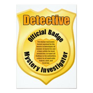 """Invitaciones detectives de la insignia invitación 5"""" x 7"""""""
