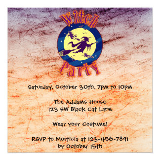Invitaciones divertidas de Halloween Invitaciones Personales