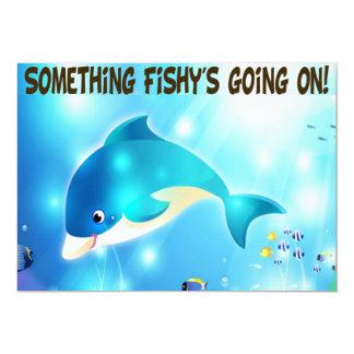 """Invitaciones divertidas de los pescados de los invitación 5"""" x 7"""""""