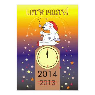 Invitaciones divertidas del fiesta de Noche Vieja Invitación 12,7 X 17,8 Cm