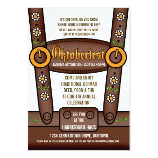 Invitaciones divertidas del fiesta de Oktoberfest Invitación 12,7 X 17,8 Cm