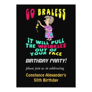 Invitaciones divertidas para mujer de la fiesta de invitacion personal