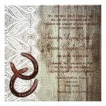 Invitaciones dobles del boda del zapato del caball comunicados personalizados