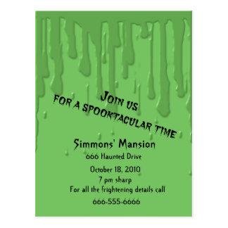 Invitaciones Drippy del limo Tarjetas Postales