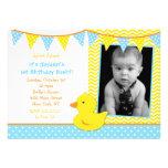 Invitaciones Ducky de goma de la fiesta de cumplea Invitaciones Personalizada