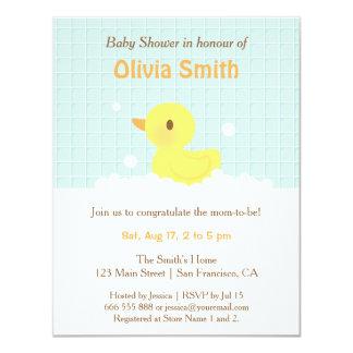 """Invitaciones Ducky de goma lindas de la fiesta de Invitación 4.25"""" X 5.5"""""""