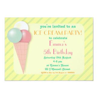 """Invitaciones dulces de la fiesta de cumpleaños del invitación 5"""" x 7"""""""