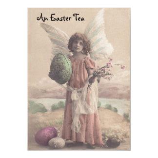 """Invitaciones dulces de la fiesta del té de Pascua Invitación 4.5"""" X 6.25"""""""