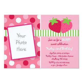 Invitaciones dulces del cumpleaños de la foto de comunicados personalizados