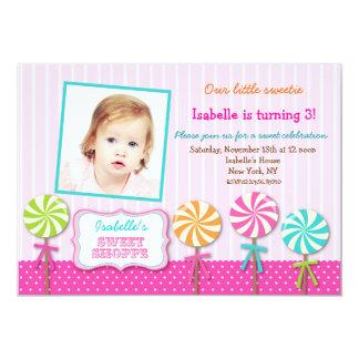 Invitaciones dulces del cumpleaños de la foto del invitación 12,7 x 17,8 cm