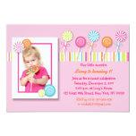 Invitaciones dulces del cumpleaños del caramelo invitación 12,7 x 17,8 cm