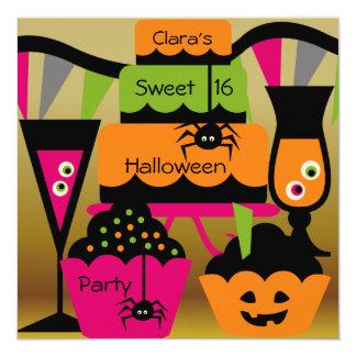 """Invitaciones dulces del fiesta de Halloween Invitación 5.25"""" X 5.25"""""""