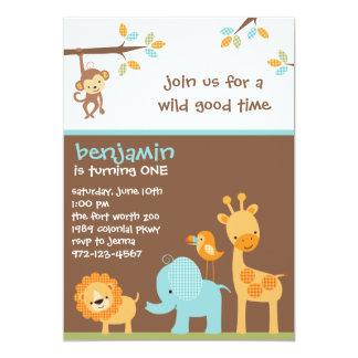 """Invitaciones dulces del safari invitación 5"""" x 7"""""""