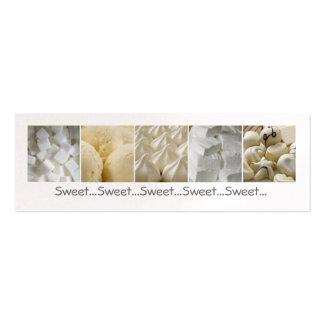 Invitaciones dulces tarjetas de visita