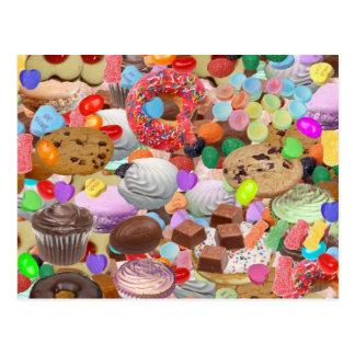 Invitaciones dulces tarjeta postal