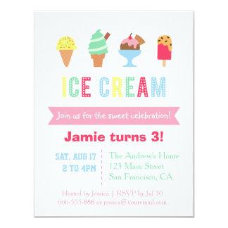 Invitaciones dulces y coloridas del fiesta del invitación 10,8 x 13,9 cm