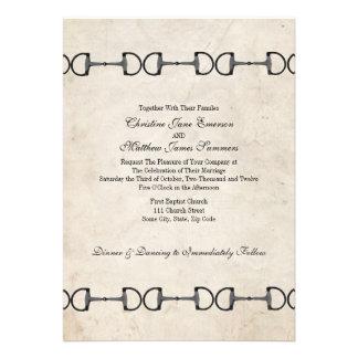 Invitaciones ecuestres del boda del pedazo inglés