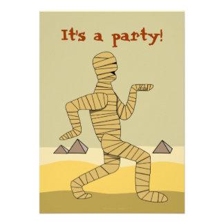 Invitaciones egipcias divertidas del fiesta de Hal