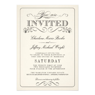 Invitaciones elegantes blancas del boda del vintag