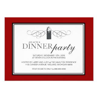 Invitaciones elegantes clásicas del fiesta de cena invitacion personal