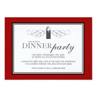 """Invitaciones elegantes clásicas del fiesta de cena invitación 5"""" x 7"""""""