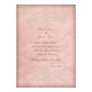 """Invitaciones elegantes de color de malva rústicas invitación 5"""" x 7"""""""
