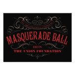Invitaciones elegantes de la bola de mascarada invitaciones personalizada