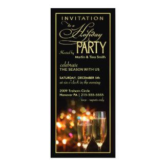 """Invitaciones elegantes de la celebración de días invitación 4"""" x 9.25"""""""