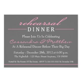 Invitaciones elegantes de la cena del ensayo comunicado personal