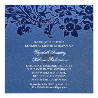 """invitaciones elegantes de la cena del ensayo del invitación 5.25"""" x 5.25"""""""