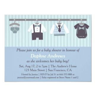Invitaciones elegantes de la ducha del bebé del invitación 10,8 x 13,9 cm