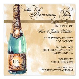 Invitaciones elegantes de la fiesta de aniversario anuncios personalizados