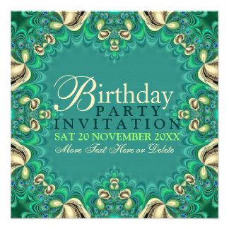 Invitaciones elegantes de la fiesta de cumpleaños invitaciones personalizada