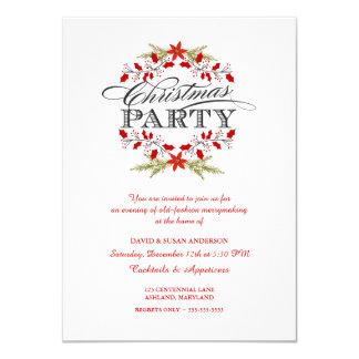 """Invitaciones elegantes de la fiesta de Navidad de Invitación 4.5"""" X 6.25"""""""