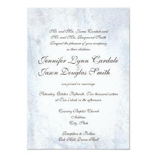 """Invitaciones elegantes del boda de Camo de la Invitación 4.5"""" X 6.25"""""""