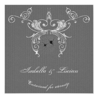 Invitaciones elegantes del boda de Halloween del Invitaciones Personalizada