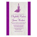 Invitaciones elegantes del boda de la botella de v