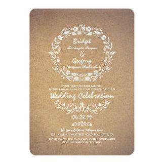 Invitaciones elegantes del boda de la guirnalda invitación 12,7 x 17,8 cm