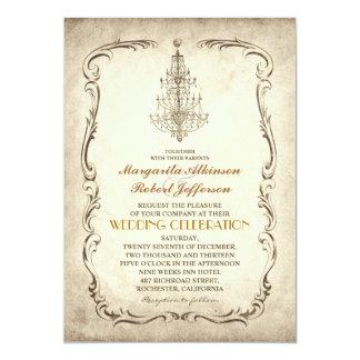 """invitaciones elegantes del boda de la lámpara invitación 5"""" x 7"""""""