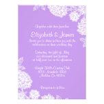 Invitaciones elegantes del boda de la lavanda