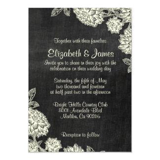 Invitaciones elegantes del boda de la pizarra invitaciones personalizada