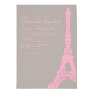 """Invitaciones elegantes del boda de la torre Eiffel Invitación 5"""" X 7"""""""