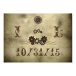 Invitaciones elegantes del boda de Steampunk de Invitación 12,7 X 17,8 Cm