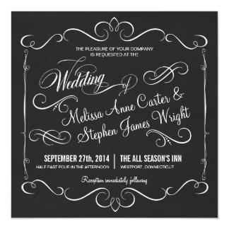 """Invitaciones elegantes del boda del cuadrado de la invitación 5.25"""" x 5.25"""""""