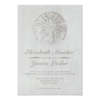 Invitaciones elegantes del boda del dólar de arena invitación 12,7 x 17,8 cm